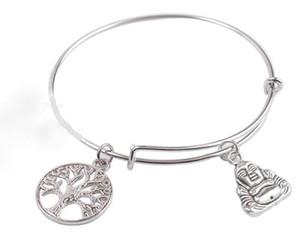 Vintage vie vie arbre bouddha bracelets extensible fil bracelet punk manchette de mariage bracelets pour femmes bijoux cadeau de mode bijoux