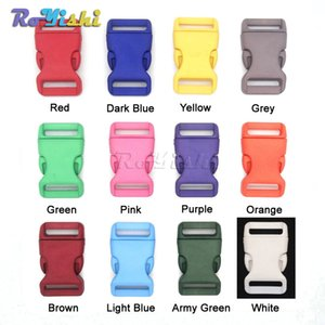 60 pçs / lote 3/4 '' (20mm) Plástico Colorido Contorno Fivelas de Liberação Lateral Para Paracord Pulseiras / Backback