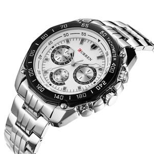 Curren Brand Fashion Military Quartz Watch Men Casual waterproof relogio masculino Army Wristwatch Silver relojes hombre