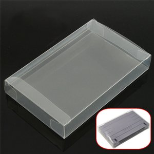 Claro PET Cartridge Protector de Cajas para SNES Cart Plastic Cover Box DHL FEDEX EMS ENVÍO GRATIS