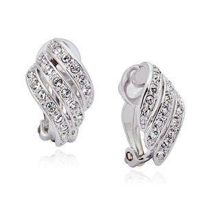 orecchini di clip per migliori gioielli orecchini bijoux non buchi alle orecchie fatta con l'Austria cristallo per le donne