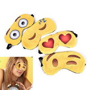 100PCS Lovely emoji Nap Eye Care Shade Blindfold Sleep Mask Eyes Cover Sleeping Cartoon 3D Printing Sleeping Eye Mask