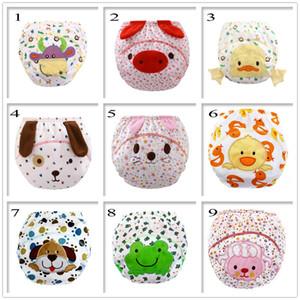 Pantalones de entrenamiento de bebé de dibujos animados Impermeable Diaper Pant Potty Toddler Panties Recién nacido Ropa interior de entrenamiento reutilizable bragas 3 capas