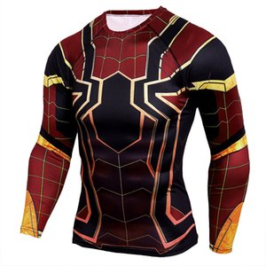 Avengers 3 Tshirt Long Sleeve 3D Printed T shirts Men Compression Shirts Character Comics Tops Cosplay Costume Gym Clothing Sport Tees