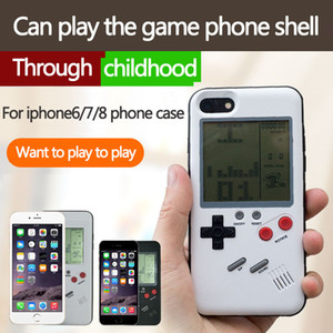 Nuovo 3D gioco ABS in silicone russo Retro Gameboy Console Phone Back Gioco custodia TPU per iPhone xs max xr x 6 7 8 plus 10 Cover Protective Shell