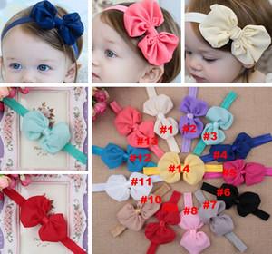 14 Farben Baby Chiffon Bogen Stirnbänder Mädchen Headwraps Infant Kinder Haarschmuck Neugeborenen Bowknot Haarband Baby Fotografie Requisiten frei