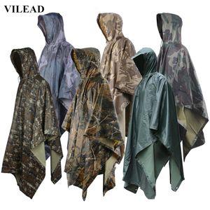 Многофункциональный Открытый непроницаемый Camo Raincoat Водонепроницаемая крышка дождя Мужчины Женщины Кемпинг Рыбалка Мотоцикл Rain Poncho Rainwear