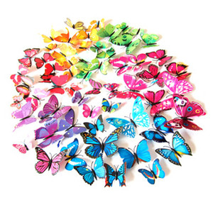 Wall Stickers 3D Sticker Butterfly Decal Removable Magnet Butterflies Home Living Room Decoration 12pcs 6cm 8cm 10cm 12cm