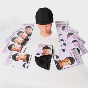 Peruk Aksesuarları Yapımı Için Peruk Kap Ayarlanabilir Ucuz 1 Adet Spandex Kubbe Kap Siyah Renk Naylon Strech Peruk Caps Tutkalsız Elastik Kap