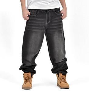 Hiphop Calças Dos Homens de Moda Solto Estações de Calças de Brim Outono Inverno Novo Baggy Denim Calças Compridas Homens Baggy Jeans Bottoms Tamanho Grande 46