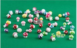 Großhandel 50 teile / los Harz Pilze Fee Garten Künstliche Pflanze Miniatur Dekoration Mini Microlandscape Handwerk Topfpflanze Zubehör