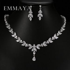Emmaya Luxury Crystal Zircon Set di gioielli da sposa Set di gioielli africani Girocollo Orecchini per le donne Spedizione gratuita S18101607