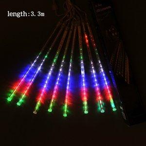 Cadena de luces del árbol de Navidad Ecológico Meteor en forma de adorno colgado boda hermoso patio de Navidad del cumpleaños decoración del hogar