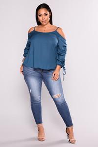 Kadınlar Kalça Kaldırma Pantolon Büyük Yard Brezilyalı Stil Skinny Tozluklar Kalem İnce JeansDark Mavi Diz pantolonlar On Broken