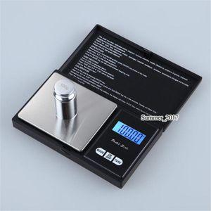 200g x 0.01g Bilancia elettronica portatile digitale digitale di precisione tascabile, bilancia in oro con diamanti