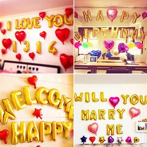 Anniversaire Fête Thèmes Ballons Or Alphabet Lettres Nombres De Ballons De Célébration BRICOLAGE Fête D'anniversaire De Mariage Décoration Ballon