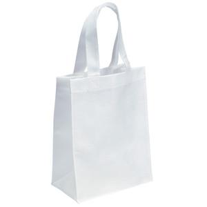 Tote Bags bianco personalizzato sacchetti non tessuti in polipropilene Lunch Design personalizzato Bulk vuoto riutilizzabile stampa personalizzata con maniglie