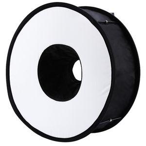 Canon Nikon Sony Pentax Godox flaş için Lightdow 45cm Katlanabilir Halka Speedlite Flaş Yayıcı Makro Çekim Yuvarlak softbox