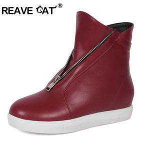 REAVE CAT Обувь женская Квартиры zapatos de mujer Мода Повседневная Женская mujer Молния Увеличенное Черное Белое Вино Большой размер 32-43 A1485