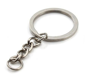 Epackfree 40шт Сплит кольцо для ключей с цепочкой Сплит ключевых кольцо цепи серебро золото Guqing цвет металл Сплит брелок кольцо частей колечки