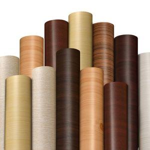 Papel autoadhesivo a prueba de agua a prueba de humedad grano de madera muebles antiguos Armario escritorio habitación dormitorio etiqueta de la pared decoración para el hogar 2 5zd bb