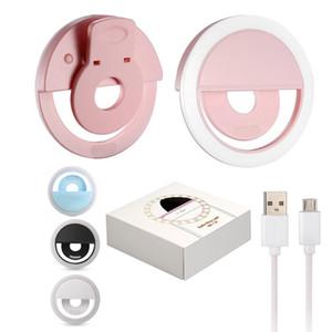 Taşınabilir Evrensel Özçekim Halka Flaş Lambası Cep Telefonu LED Dolgu Işığı Özçekim Halka Flaş Aydınlatma Kamera Fotoğraf Iphone Samsung için