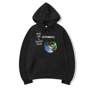 Tops sudaderas Hombres Travis Scott AstroWorld GOV BOLA NYC Unisex Sudadera con capucha y del invierno de la camiseta de otoño Polo Camisa