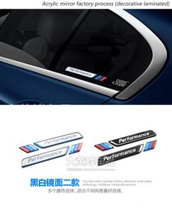 도매 1 세트 자동차 스타일링 자동차 창 장식 M 엠 블 럼 스티커 자동차 펜더 데 칼 3D 스티커 BMW E90 F30 F10 E46 E36