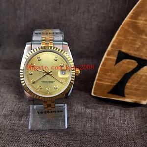 Relógios de pulso unisex 36mm 41mm 116233 18K ouro azul luminescente diamante Dial jubileu 2813 movimento mecânico mecânico homem relógio relógio relógios