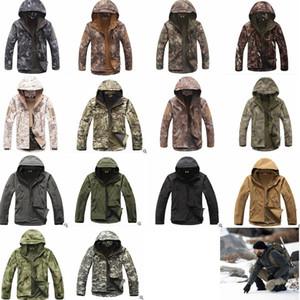 TAD Stealth Sharkskin Softshell куртки военные водонепроницаемый wrap камуфляж пальто мужчины поход охота тактические толстовка куртки GGA1030