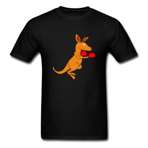 Cute Graphic Patterns T Shirts For Student Custom Gift Shirts White Summer Tops & Tees Funny Design AS Kangaroo Boxer Tshirt