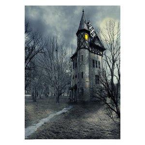 3D realista Halloween pano de fundo assombrado assustador fundo sombrio pano de fundo para Photo Booth fotografia estúdio tema partes