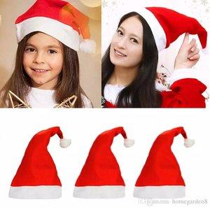 2019 Moda Nonwoven Noel Noel Noel Baba Şapka Yılbaşı Hediyeleri Dekorasyon En ucuz Santa Claus kapağı Caps