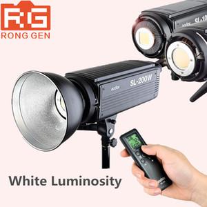 الجملة SL-200W الأبيض نسخة LCD لوحة LED فيديو ضوء التحكم اللاسلكي لحضور حفل زفاف ، الصحفي ، تسجيل فيديو استوديو الصور