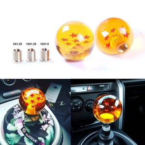 Car Gear Z Shift Knob Dragon Ball 7 Stelle Pomello color ambra M12 / 10/8 per Honda