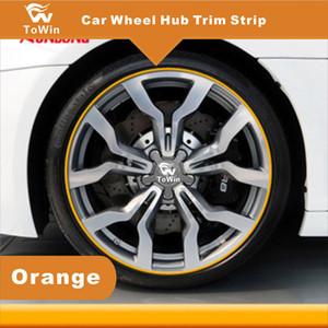 Auto-Radnaben-Zierleiste, bunte Auto-Radnabe-Änderungs-Dekorations-Streifen DIY allgemein für die meisten Autos