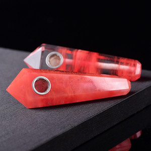 Хороший Мини Красочный Кристалл Курительная Трубка Инновационный Дизайн Легко Чистый Портативный Высокое Качество Роскошный Красивый Цвет Горячей Продажи