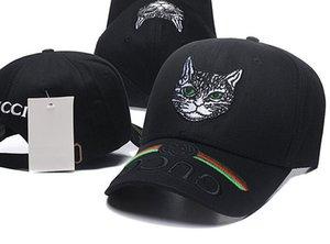 Diseñador 2018 para hombre gorras de béisbol Nueva marca Cat Head sombreros de oro bordado hueso Hombres Mujeres casquette Sombrero para el sol gorras Gorra deportiva Envío de la gota