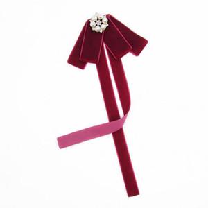 Alta calidad School Style Girls Bowtie Pure Lady Dress Tie Collar Mujeres Multi Style terciopelo preal Bow Ties Accesorios de mujer