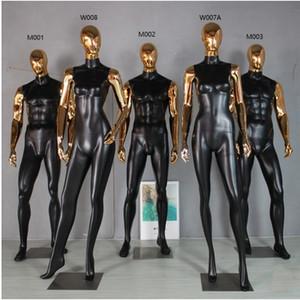 حار حار أفضل جودة الأزياء الذهبي اليد رئيس المعرضة كامل الجسم ذكر نموذج مصنع بيع المباشر