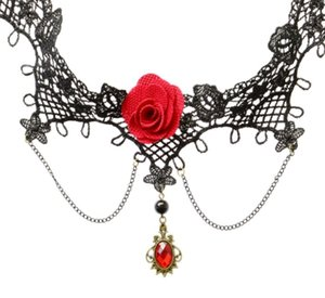 2018 joyería gótica de encaje negro collares colgantes corta gargantilla collar de la mujer accesorios collar falso collar de la declaración