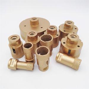 DIATOOL 1 parça Vakum Kaynaklı Elmas Delik Testere Sondaj M14 bağlantılı Çekirdek Uçları porselen karo veya granit için with15MM elmas yüksekliği