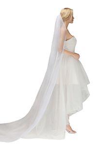 Новая мода Простой дешевый Layer 3 Merters Soft Тюль 2019 Свадебная фата с расческой Long Princess Bridal вуали Свадебные аксессуары CPA1442