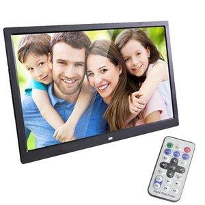 Toptan 15 inç LED Aydınlatmalı HD 1280 * 800 Tam Fonksiyonlu Dijital Fotoğraf Çerçevesi Elektronik Albüm dijital Resim Müzik Video