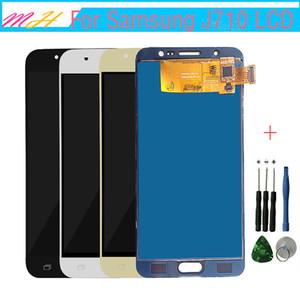 Haute Qualité LCD + Écran Tactile Pour Samsung Galaxy J7 2016 J710 J710F J710M J710H LCD Display Digitizer Assembly 5.5inch + Outil De Réparation