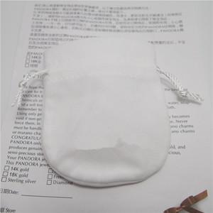 Inicio 10 UNIDS Reemplazo Blanco Bolsas de Joyería Bolsas Para Pandora Charm Bead Necklace Pendientes Anillo Colgante de Embalaje Nueva Llegada