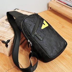 Erkek çantası tek omuz çantası erkek göğüs çantası gençlik kamuflaj Oxford kumaş eğik satchel backpac Kore versiyonu