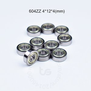 604ZZ rulmanlar metal Mühürlü Minyatür Mini 604 604Z 604ZZ 4 * 12 * 4mm ücretsiz kargo taşıyan krom çelik Rulman 10pcs