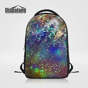 واقعية المجرة تصميم حقيبة مدرسية للمراهقات الكون الفضاء الظهر للكمبيوتر المحمول سفر bagpack mochila اجتماعيون فريد من نوعه Rugzak