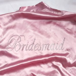 New Sexy Long-Sleeved Home Ladies Bridal Bathrobes Bride Bridesmaid Sister Maid Of Honour Night Sleep Kimono dress for wedding